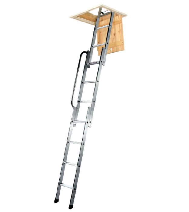 Youngman aluminium 3 section loft ladder